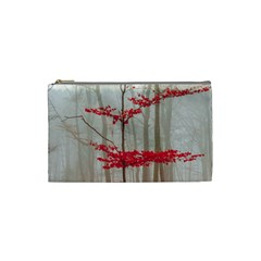 Magic forest in red and white Cosmetic Bag (Small)