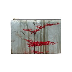 Magic forest in red and white Cosmetic Bag (Medium)