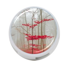 Magic Forest In Red And White 4 Port Usb Hub (one Side) by wsfcow