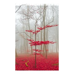 Magic Forest In Red And White Shower Curtain 48  X 72  (small)  by wsfcow