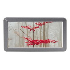 Magic Forest In Red And White Memory Card Reader (mini) by wsfcow