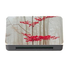 Magic Forest In Red And White Memory Card Reader With Cf by wsfcow
