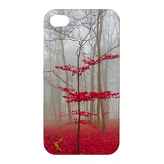 Magic Forest In Red And White Apple Iphone 4/4s Hardshell Case
