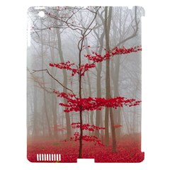 Magic forest in red and white Apple iPad 3/4 Hardshell Case (Compatible with Smart Cover)