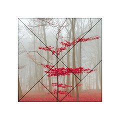 Magic forest in red and white Acrylic Tangram Puzzle (4  x 4 )