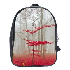 Magic forest in red and white School Bags (XL)