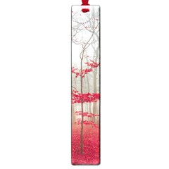 Magic Forest In Red And White Large Book Marks by wsfcow