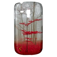 Magic Forest In Red And White Samsung Galaxy S3 Mini I8190 Hardshell Case
