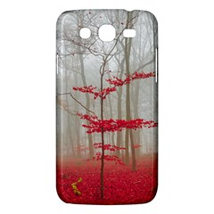 Magic forest in red and white Samsung Galaxy Mega 5.8 I9152 Hardshell Case