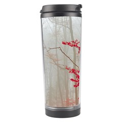 Magic Forest In Red And White Travel Tumbler by wsfcow