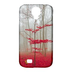 Magic forest in red and white Samsung Galaxy S4 Classic Hardshell Case (PC+Silicone)