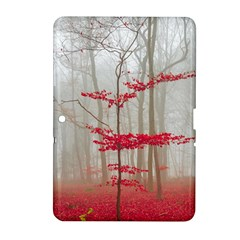 Magic forest in red and white Samsung Galaxy Tab 2 (10.1 ) P5100 Hardshell Case
