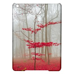 Magic forest in red and white iPad Air Hardshell Cases