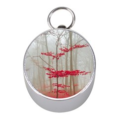 Magic forest in red and white Mini Silver Compasses