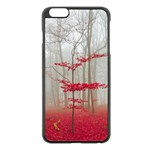 Magic forest in red and white Apple iPhone 6 Plus/6S Plus Black Enamel Case Front