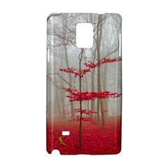 Magic Forest In Red And White Samsung Galaxy Note 4 Hardshell Case by wsfcow