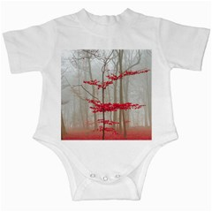 Magic Forest In Red And White Infant Creepers