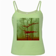 Magic Forest In Red And White Green Spaghetti Tank by wsfcow