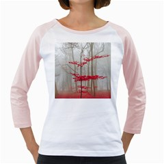Magic Forest In Red And White Girly Raglans by wsfcow
