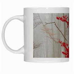 Magic Forest In Red And White White Mugs by wsfcow