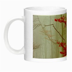 Magic Forest In Red And White Night Luminous Mugs