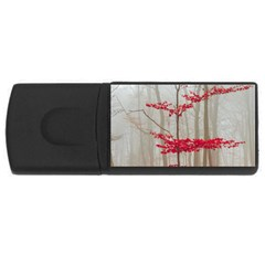 Magic Forest In Red And White USB Flash Drive Rectangular (4 GB)