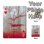 Magic Forest In Red And White Playing Cards 54 Designs  Front - Heart4