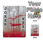 Magic Forest In Red And White Playing Cards 54 Designs  Front - Joker1
