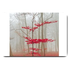Magic Forest In Red And White Large Doormat