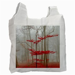 Magic Forest In Red And White Recycle Bag (One Side)