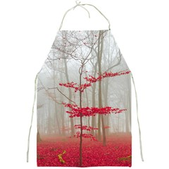 Magic Forest In Red And White Full Print Aprons