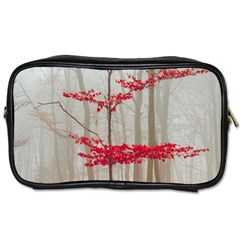 Magic Forest In Red And White Toiletries Bags by wsfcow