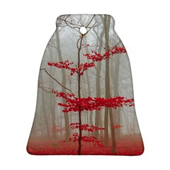 Magic Forest In Red And White Ornament (Bell)