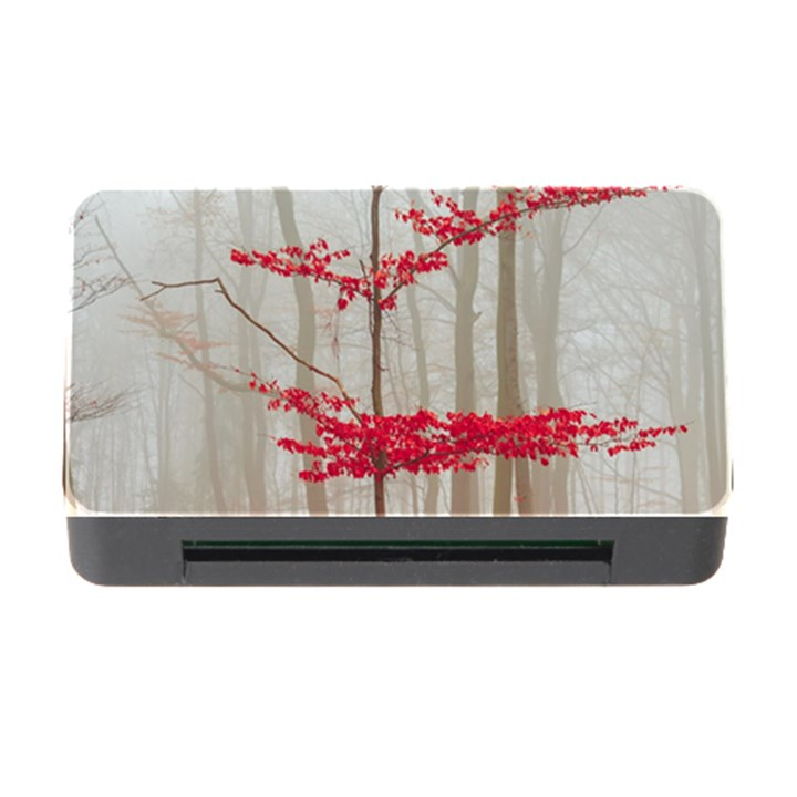 Magic Forest In Red And White Memory Card Reader with CF