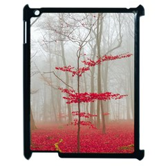 Magic Forest In Red And White Apple Ipad 2 Case (black)