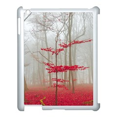 Magic Forest In Red And White Apple Ipad 3/4 Case (white) by wsfcow