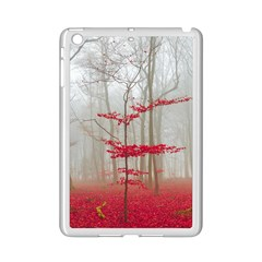 Magic Forest In Red And White Ipad Mini 2 Enamel Coated Cases