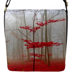 Magic Forest In Red And White Flap Messenger Bag (s) by wsfcow