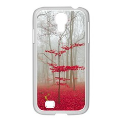 Magic Forest In Red And White Samsung Galaxy S4 I9500/ I9505 Case (white)