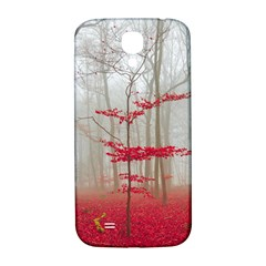 Magic Forest In Red And White Samsung Galaxy S4 I9500/I9505  Hardshell Back Case