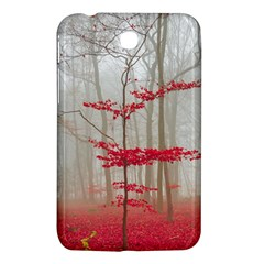 Magic Forest In Red And White Samsung Galaxy Tab 3 (7 ) P3200 Hardshell Case  by wsfcow