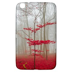 Magic Forest In Red And White Samsung Galaxy Tab 3 (8 ) T3100 Hardshell Case