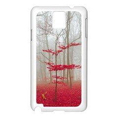 Magic Forest In Red And White Samsung Galaxy Note 3 N9005 Case (White)