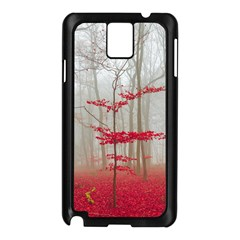 Magic Forest In Red And White Samsung Galaxy Note 3 N9005 Case (Black)
