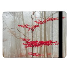 Magic Forest In Red And White Samsung Galaxy Tab Pro 12 2  Flip Case by wsfcow