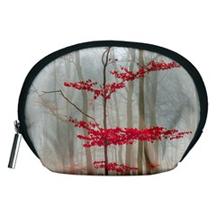 Magic Forest In Red And White Accessory Pouches (Medium)