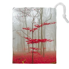 Magic Forest In Red And White Drawstring Pouches (XXL)