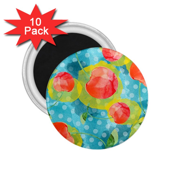 Red Cherries 2.25  Magnets (10 pack)