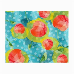 Red Cherries Small Glasses Cloth (2 Side) by DanaeStudio