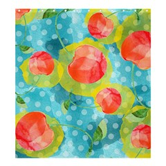 Red Cherries Shower Curtain 66  X 72  (large)  by DanaeStudio